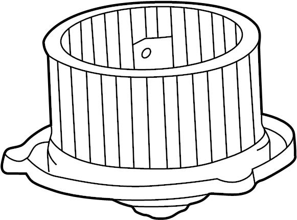 2003 TOYOTA TACOMA Motor sub-assy, heater blower, w/fan