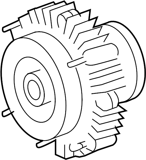 2011 TOYOTA TACOMA Engine Cooling Fan Clutch. PULLEYS