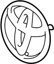 TOYOTA HIGHLANDER Emblem, radiator grille (or front panel