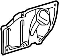 2015 TOYOTA PRIUS Cover, engine under, rear lh