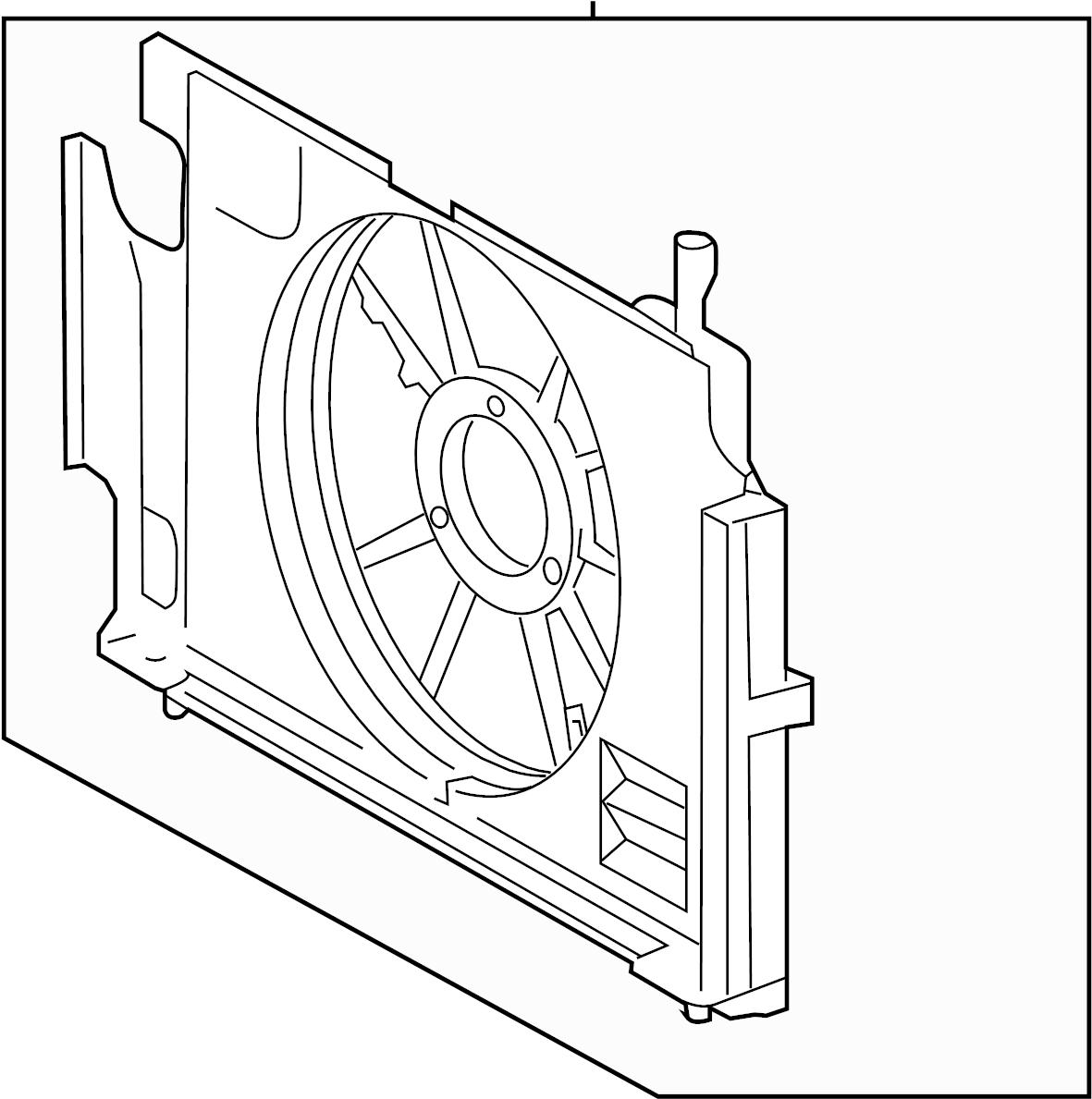 TOYOTA Prius C Engine Cooling Fan Shroud. Fan shroud