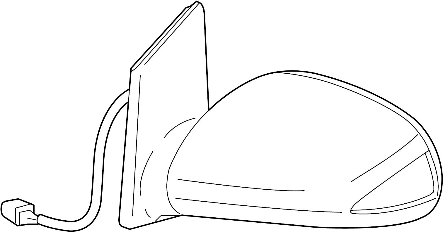 Scion Xa Mirror Assy Outer Rear View Lh Black Mc 209