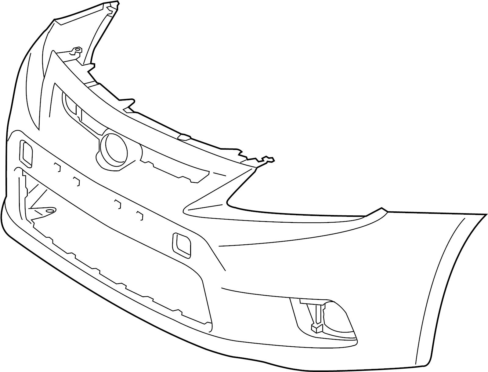 2011 Scion TC Cover, front bumper. Cover, fr bumper, l/c
