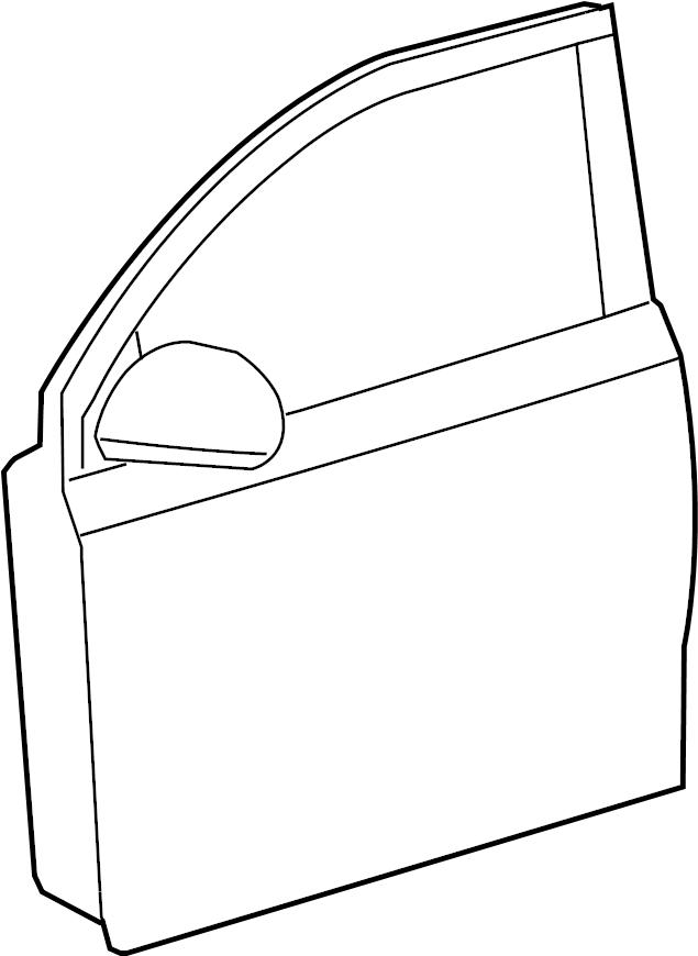 2010 Scion XD Panel sub-assy, front door, lh. Panel sub