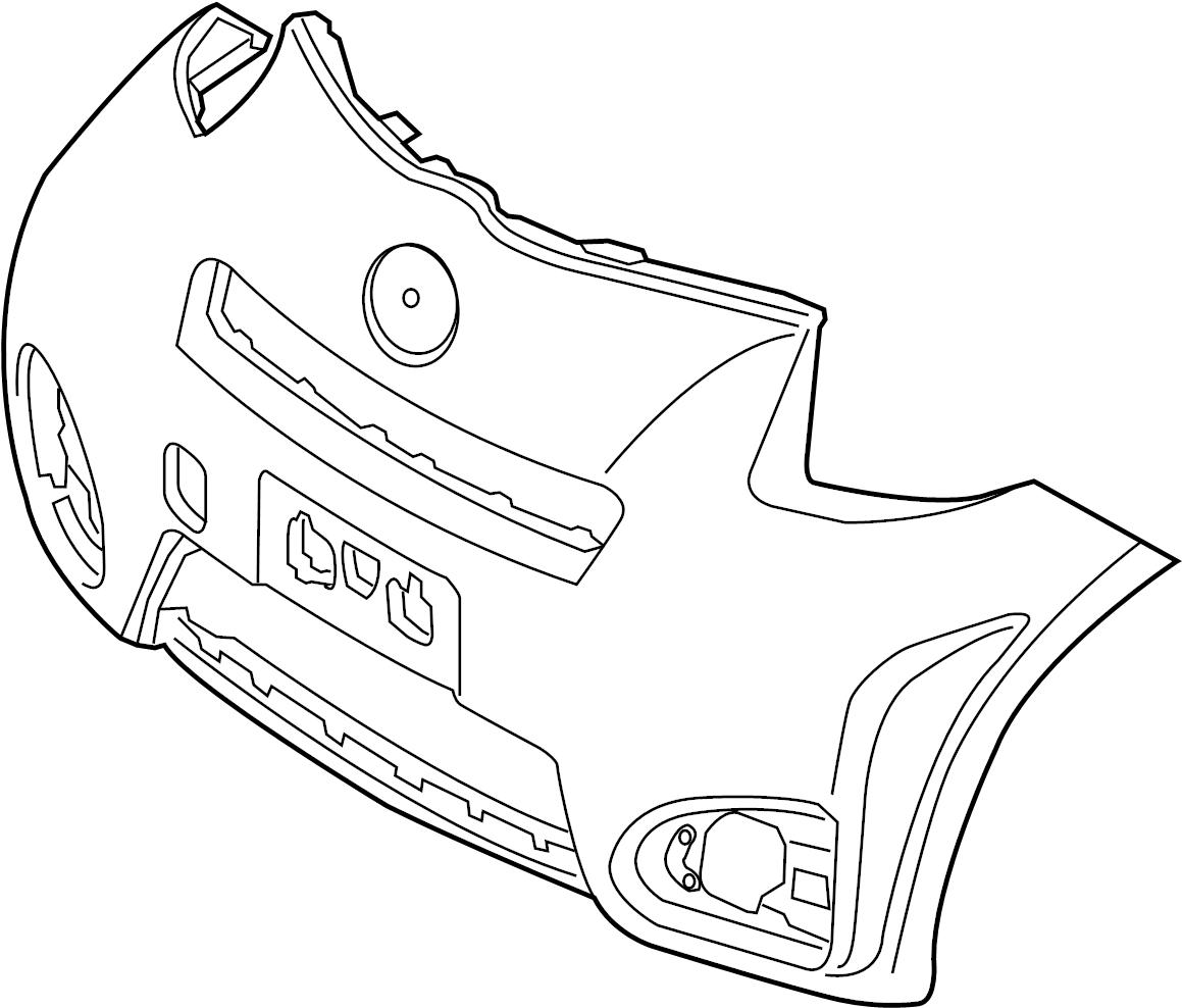Scion Iq Bumper Cover Unprimed Preparation Oem