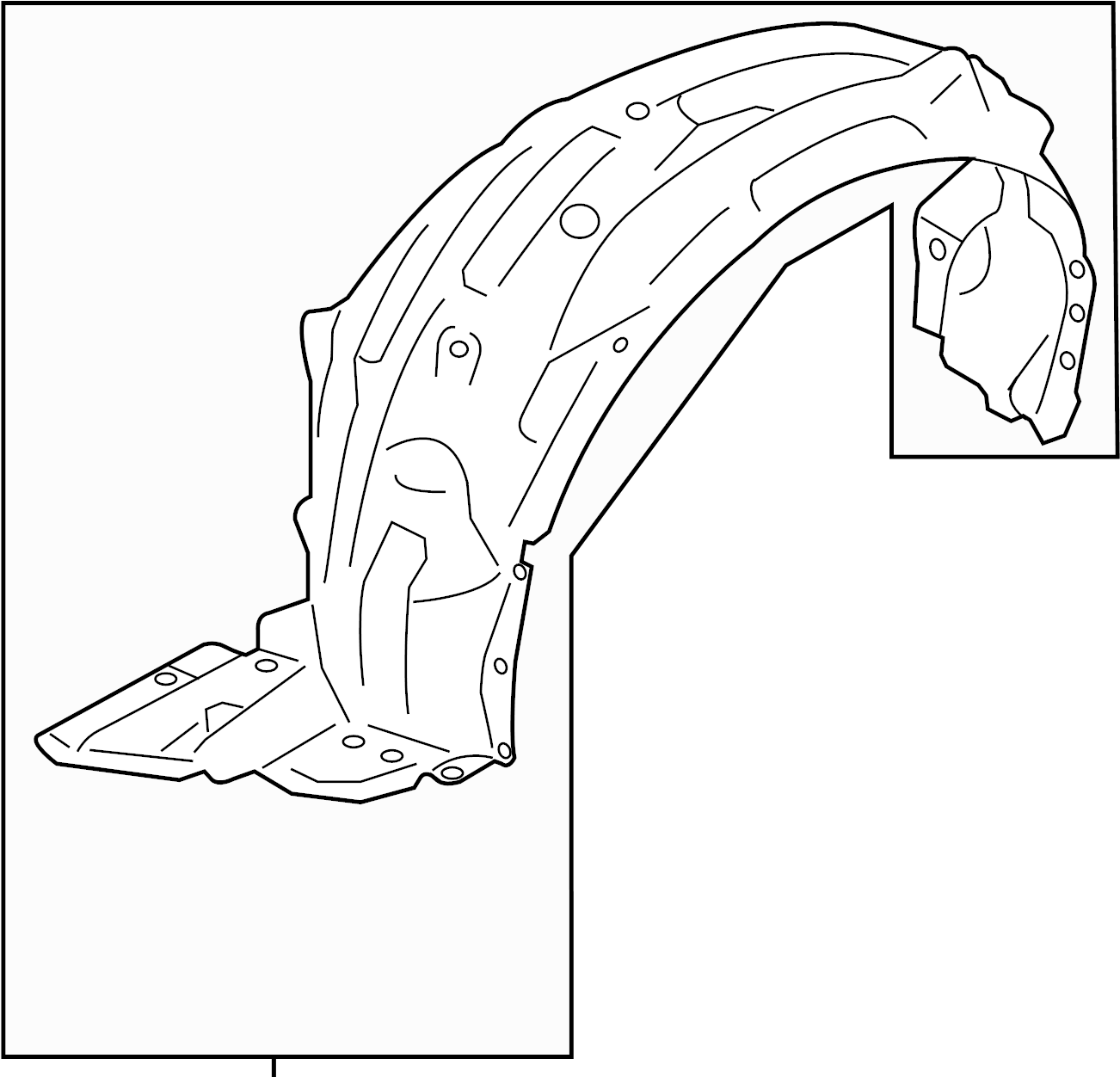 Scion Fr S Fender Splash Shield Left Front Rear