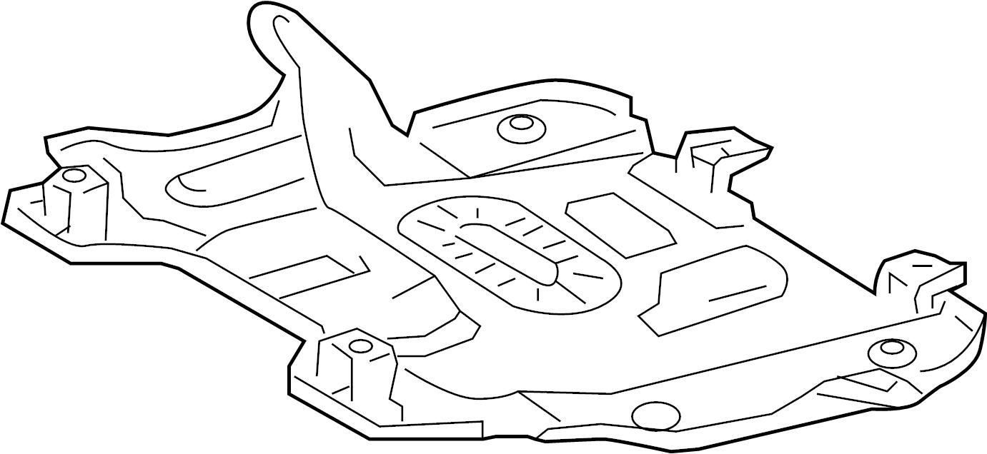 2003 TOYOTA 4RUNNER Cover assy, engine under, rear