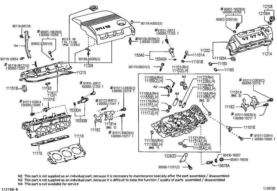 [DIAGRAM] V6 3000 4 Cam 24 Toyota Engine Diagram FULL