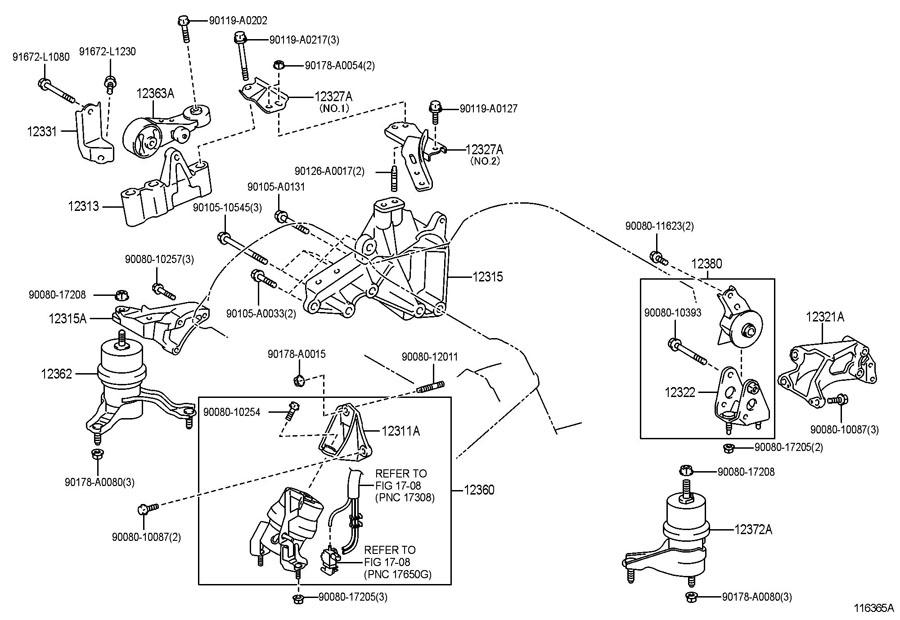 2015 TOYOTA Insulator, engine mounting, lh(for transverse