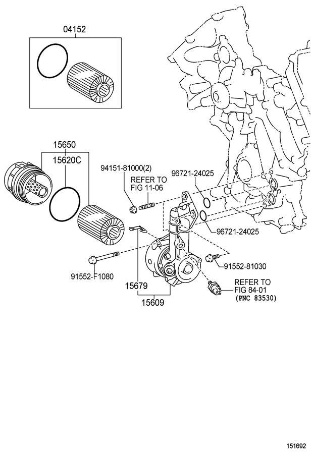 TOYOTA COROLLA Clip, oil filter bracket. Packagewithnorth