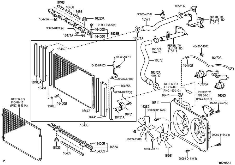 2004 Toyota Sienna Parts Diagram Radiaotor. Toyota. Auto