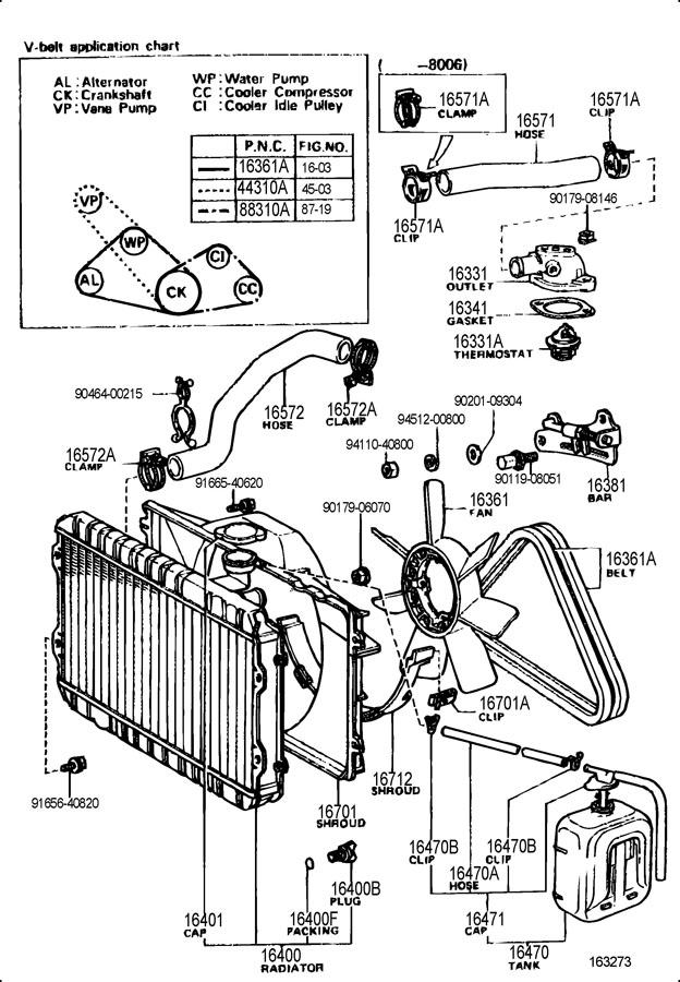 TOYOTA CELICA Hose, radiator, outlet. Hose, radiator, no.2