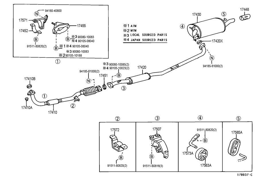 TOYOTA HIGHLANDER Bolt(for automatic transmission case