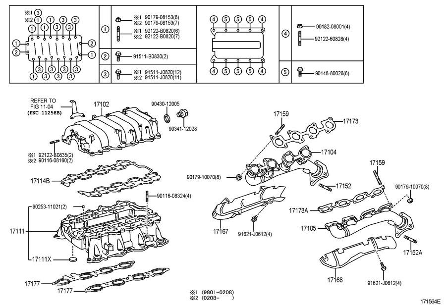 TOYOTA LAND CRUISER Manifold sub-assy, exhaust, rh