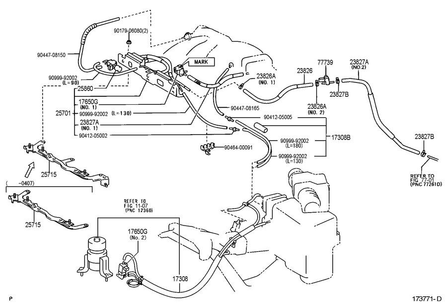 TOYOTA TUNDRA Valve, duty vacuum switching; valve, vacuum