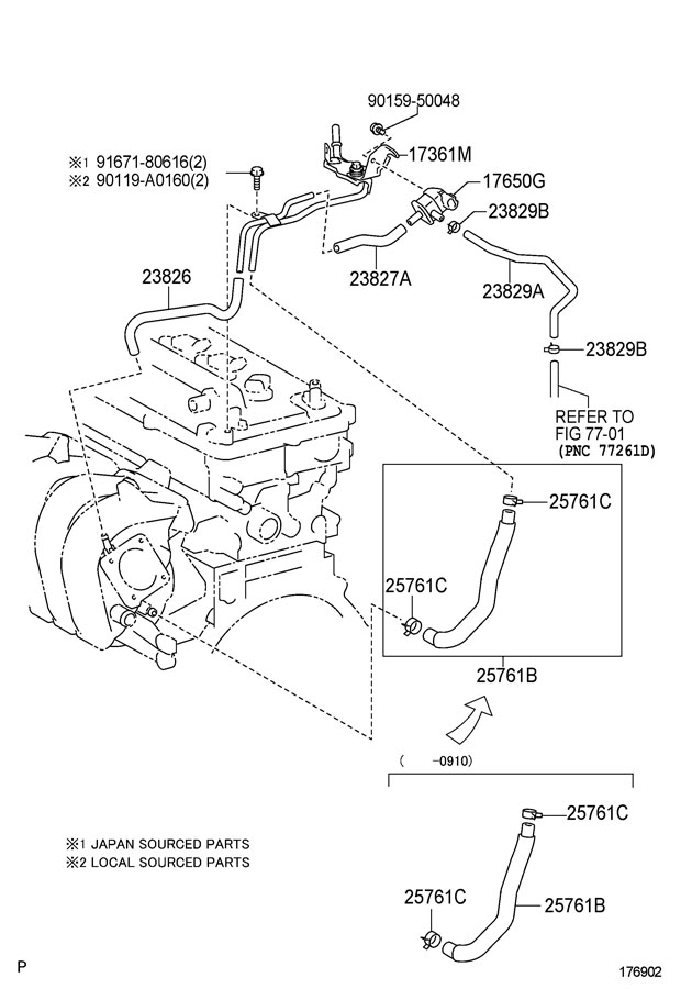 TOYOTA COROLLA Vacuum. Valve. LocationEngine, Bay, Stamped