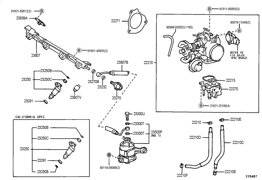 TOYOTA CAMRY Fuel Injection Idle Air Control Valve