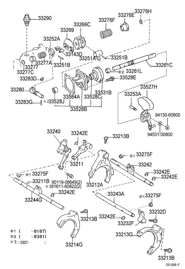 2002 TOYOTA RAV 4 Cover, shift inter lock plate