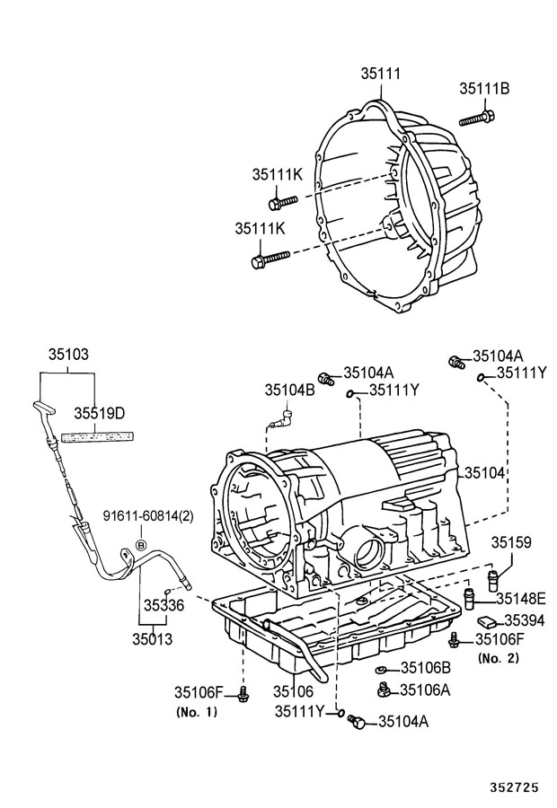 TOYOTA TACOMA Gasket (for transfer oil pan); gasket, drain