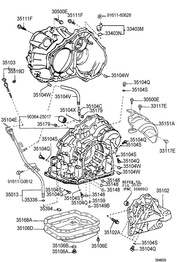 2006 Scion TC Pan sub-assy, automatic transaxle oil. (l