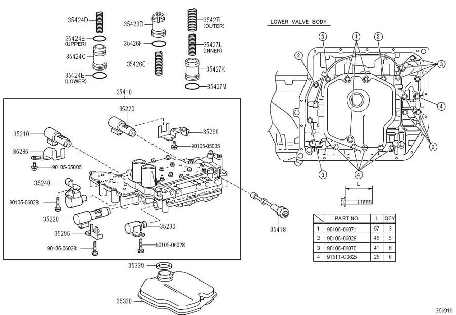 TOYOTA RAV 4 Solenoid assy, automatic transmission 3way