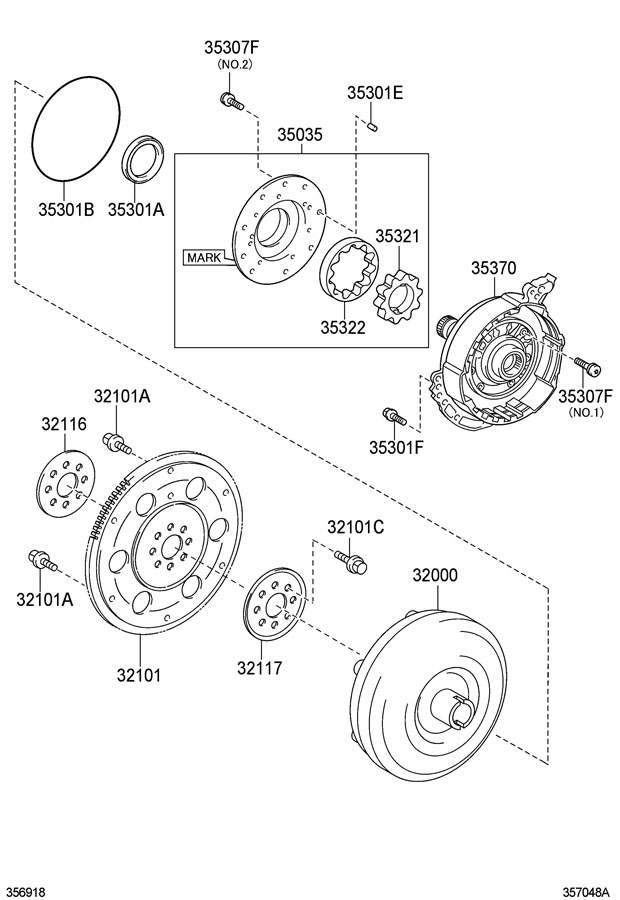 TOYOTA COROLLA Automatic Transmission Oil Pump Seal
