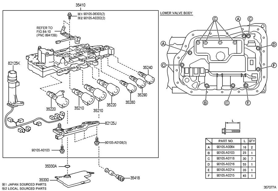 TOYOTA RAV 4 LE Strainer assy, valve body oil. Strainer