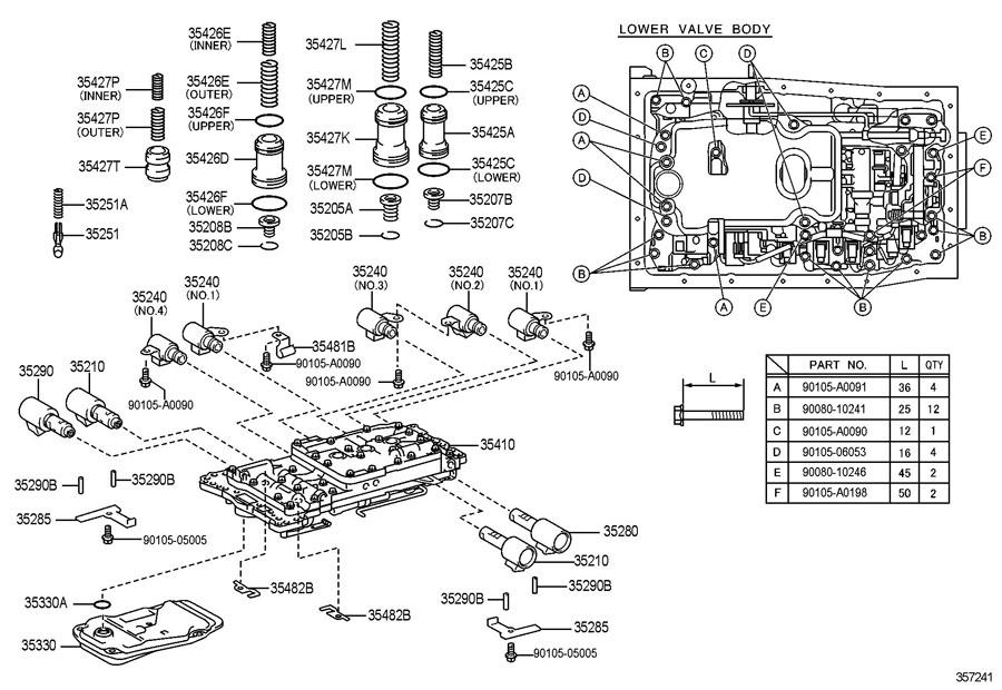 2007 TOYOTA TUNDRA Automatic Transmission Control Solenoid