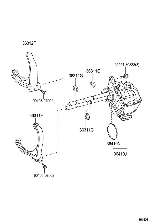 TOYOTA TUNDRA Transfer Case Motor. ACTUATOR ASSEMBLY