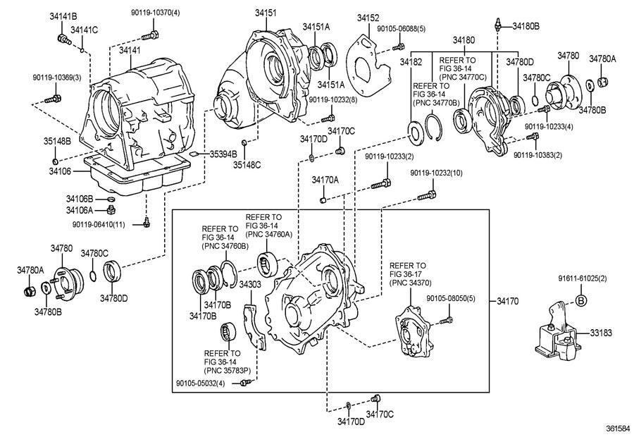 1993 TOYOTA 4RUNNER Plug sub-assy, breather (for transfer