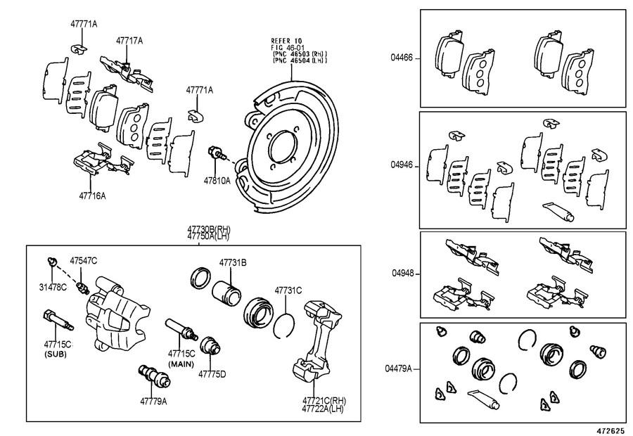 Scion TC Pin, cylinder slide(for rear disc brake). Main