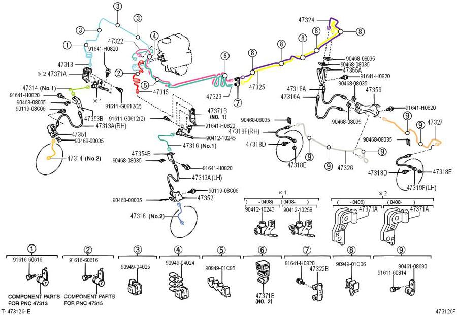 TOYOTA 4RUNNER Clamp, brake tube, no.2; clamp, brake tube