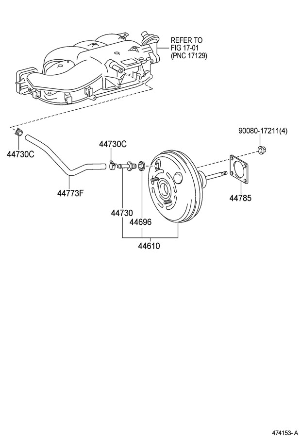 TOYOTA TACOMA Gasket, brake booster. Oring, wstability