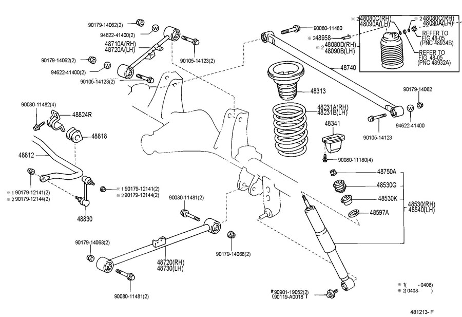 TOYOTA SEQUOIA Spring, hollow(for rear suspension