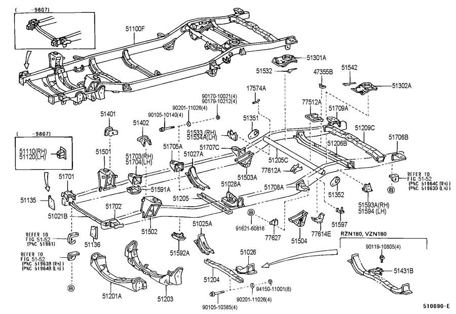 Toyota T100 4x4 Transmission Parts Diagram