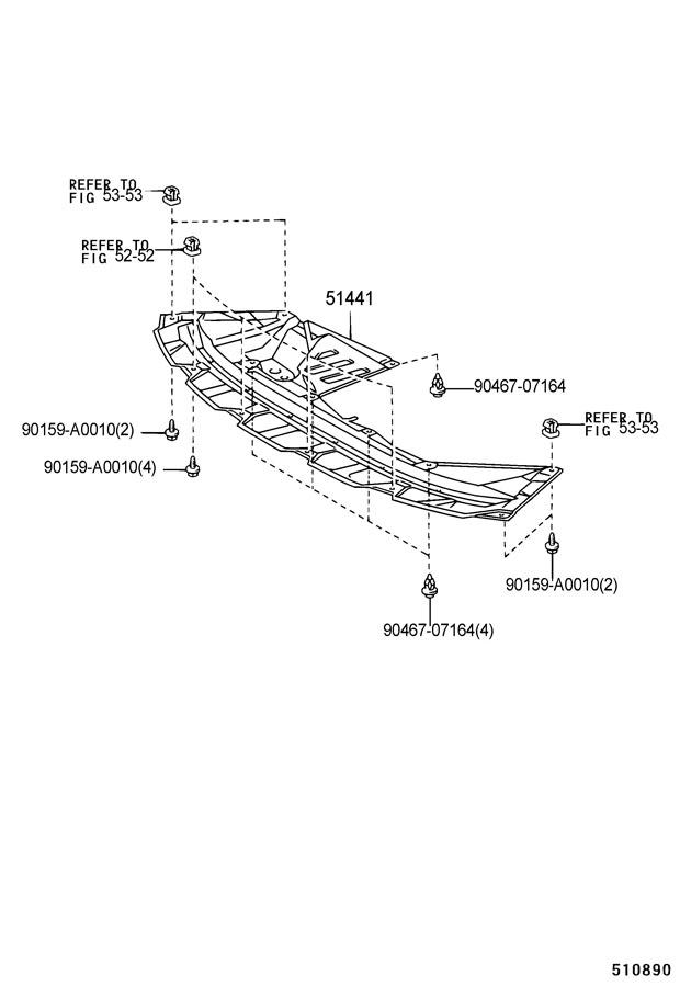 TOYOTA SIENNA Radiator Support Splash Shield (Front, Lower