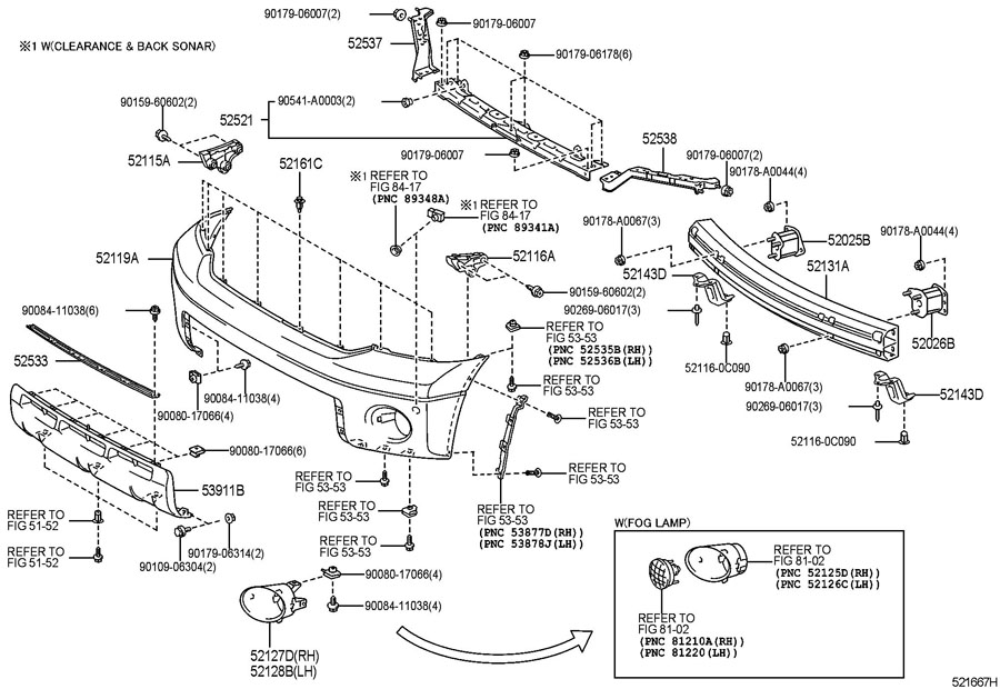 2008 Toyota Tundra Rear Bumper Parts Diagram