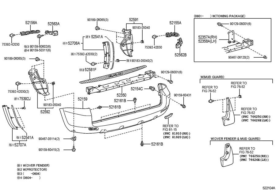 TOYOTA RAV 4 Protector, Bumper. Scuff plate. (Rear