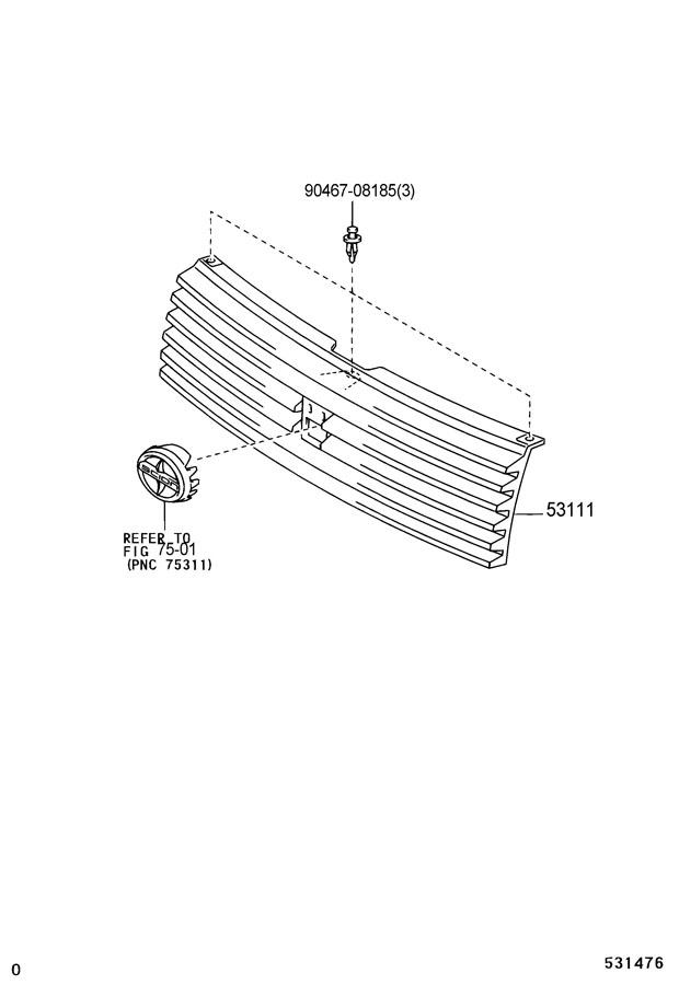2006 Scion XB Clip. Retainer. Panel. Cover. Trim. (Upper