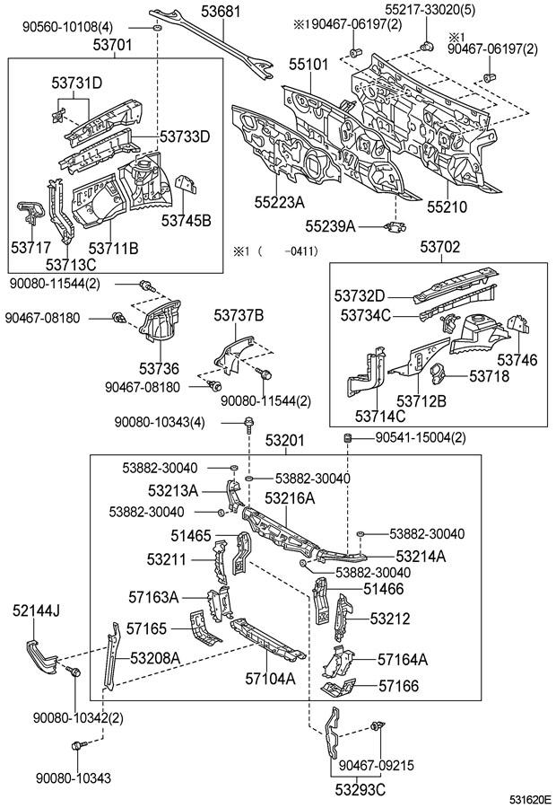 2020 TOYOTA CAMRY Suspension Strut Brace (Front, Upper