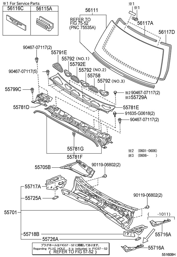 TOYOTA FJ CRUISER Panel, cowl top side, inner lh
