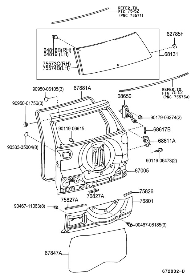 Service manual [2003 Toyota Sienna Liftgate Panel Removal
