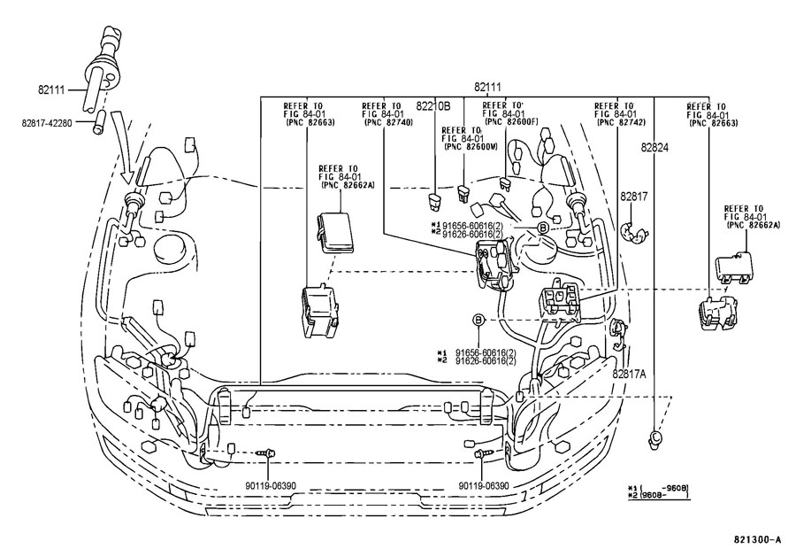 TOYOTA RAV 4 Connector, wiring harness. Engine wire
