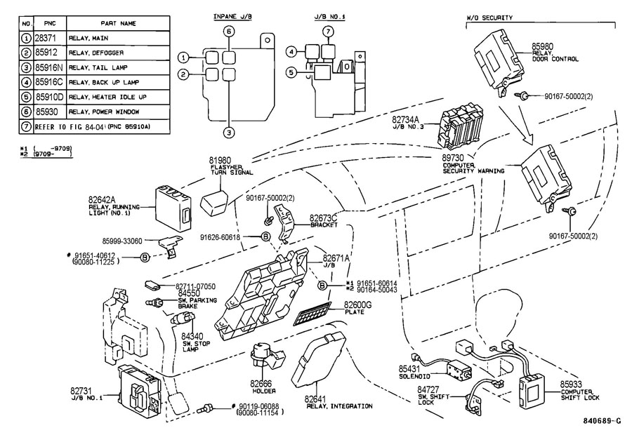 [DIAGRAM] 2008 Toyota Avalon Relay Diagram Pdf FULL