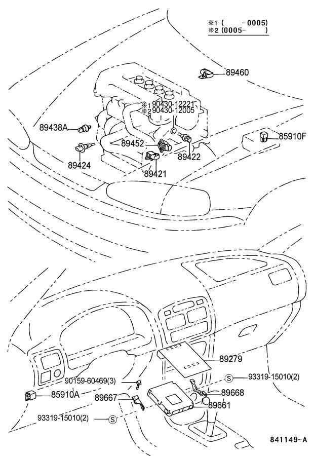 TOYOTA RAV 4 Sensor, throttle position (for e.f.i.). (l