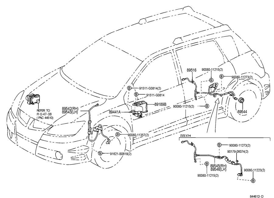 TOYOTA MATRIX Abs wheel speed sensor (right, front