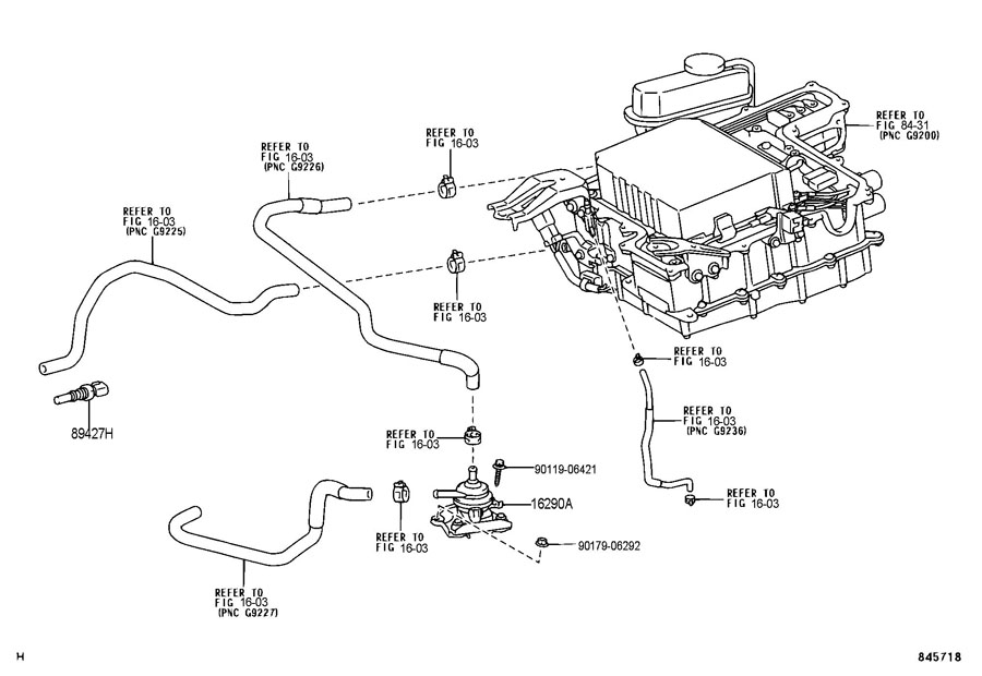 TOYOTA PRIUS Pump assy, water w/motor & bracket. Wmotor