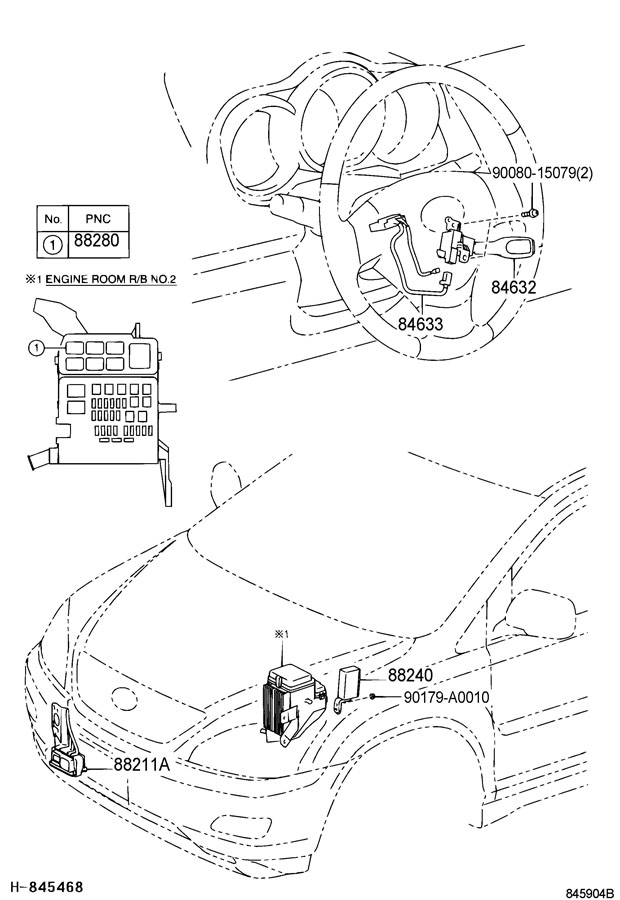 TOYOTA CAMRY Wire, cruise control switch. Wire, cruise