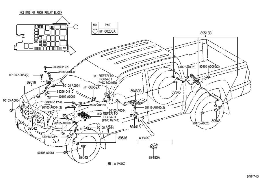 TOYOTA TACOMA Sensor, speed, front rh; sensor, speed, rear