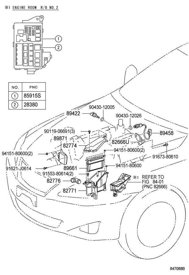 TOYOTA CAMRY Relay assy, cooler; relay assy, fuel pump